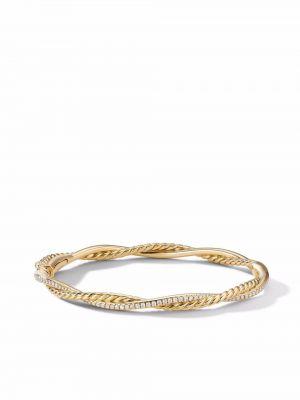 Żółta złota bransoletka David Yurman