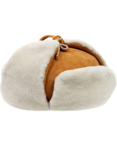 Шапка-ушанка с отворотом из овчины Borsalino