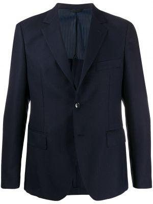Niebieski garnitur wełniany z długimi rękawami Mp Massimo Piombo