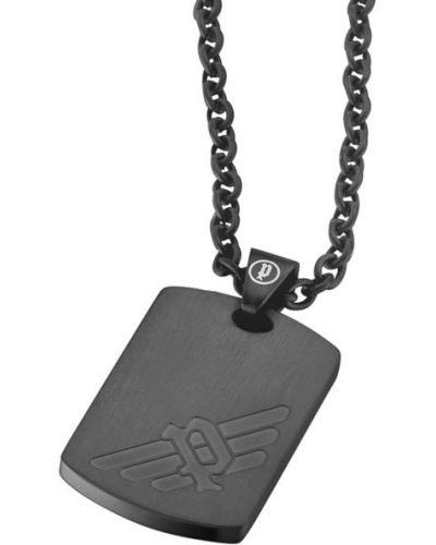Серый медальон с подвесками с декоративной отделкой Police