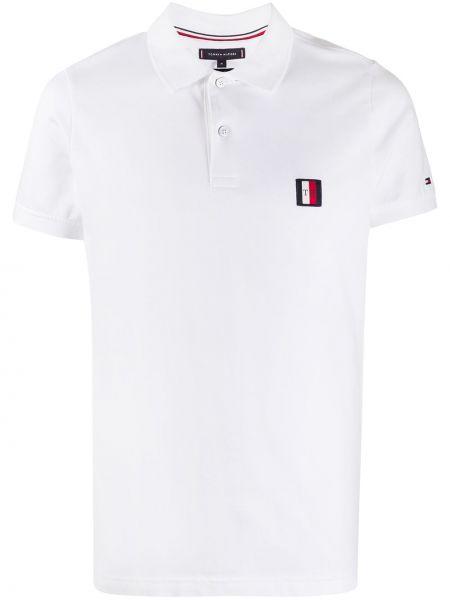 Koszula krótkie z krótkim rękawem z logo z kołnierzem Tommy Hilfiger