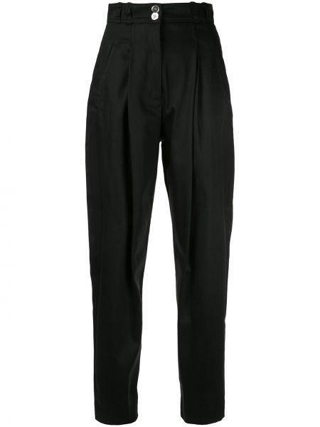 Хлопковые черные брюки с карманами Giambattista Valli