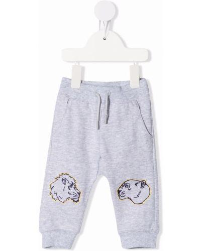 Spodnie bawełniane z haftem Kenzo Kids