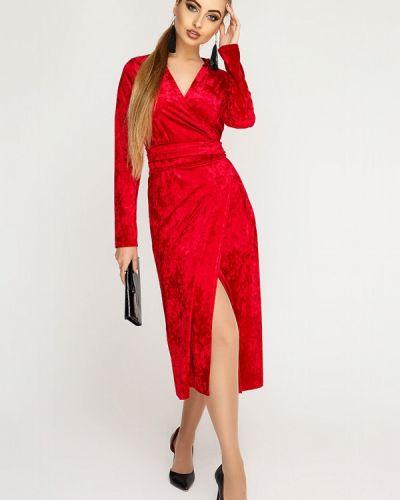 Вечернее платье осеннее красный Leo Pride