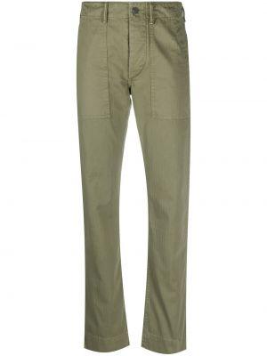 Зеленые брючные укороченные брюки с поясом с манжетами Ralph Lauren