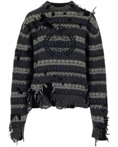 Sweter - szary Balenciaga