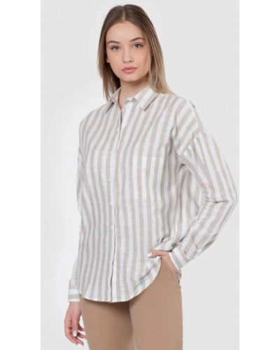 Бежевая рубашка Arber