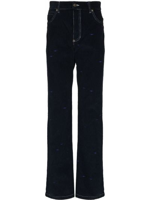 Niebieskie mom jeans srebrne Phipps