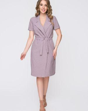 Платье с поясом на пуговицах двубортное Diolche