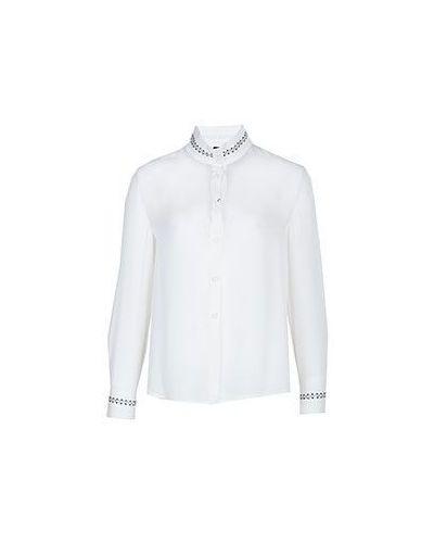 Бежевая блузка английская Emporio Armani
