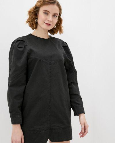 Черное джинсовое платье Befree