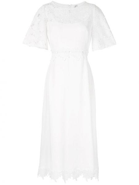 Белое короткое платье с вырезом из вискозы Copurs