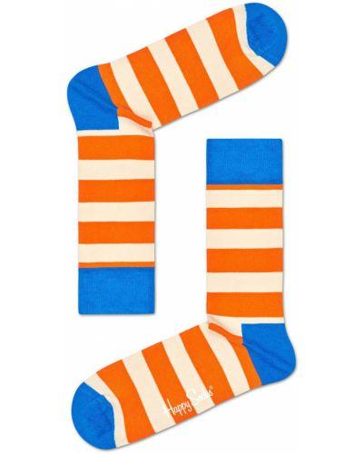 Колготки с узором желтый Happy Socks