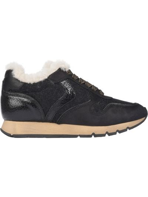 Черные кроссовки из нубука Voile Blanche