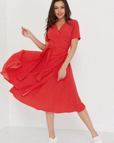 Платье миди красный A.karina