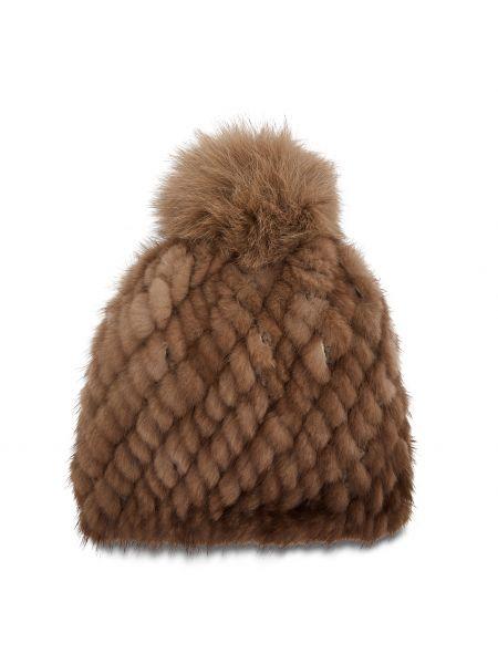 Brązowa czapka Max Mara