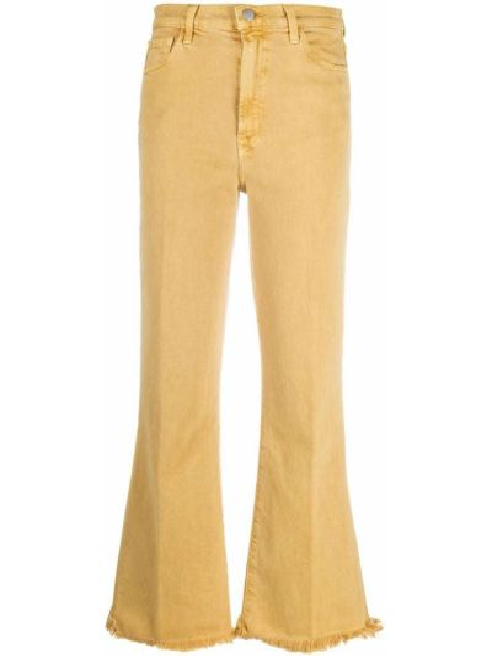 Расклешенные брендовые укороченные джинсы стрейч J Brand