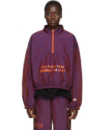 Толстовка с вышивкой сиреневый Adidas Originals By Alexander Wang