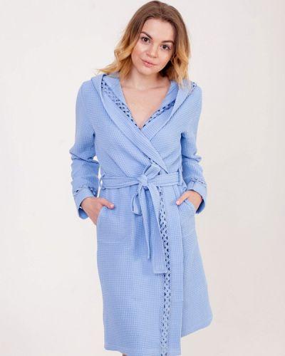 Голубой халат домашний Pastunette