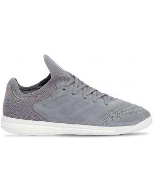 Sneakersy zamszowe z haftem Adidas X Nemeziz