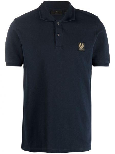 Niebieska koszula krótki rękaw bawełniana Belstaff