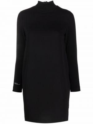 Платье макси с длинными рукавами - черное John Richmond