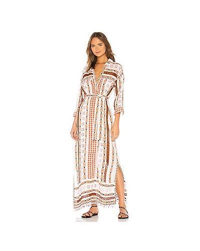 Хлопковое белое платье с вышивкой Dodo Bar Or
