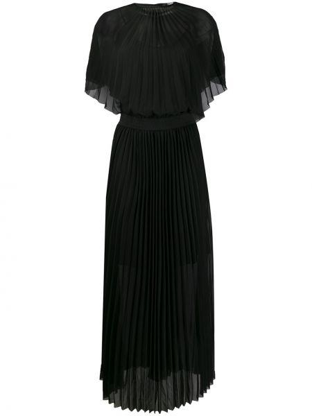 Приталенное с рукавами черное платье мини Karl Lagerfeld
