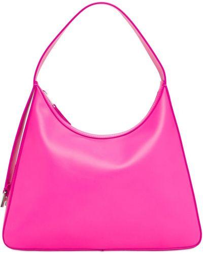 Różowa torba na ramię skórzana Ambush
