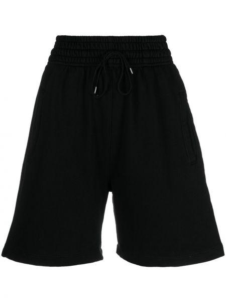 Szorty bawełniane - czarne Agolde