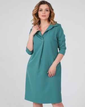 Деловое платье со складками платье-сарафан Ellcora