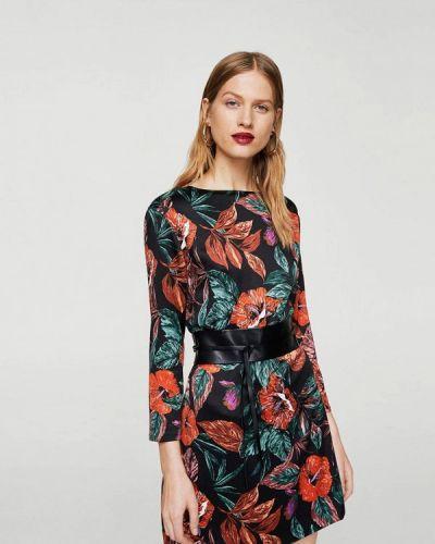 Платье с длинными рукавами Mango