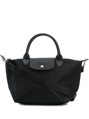 Сумка шоппер на молнии - черная Longchamp