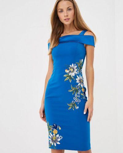 Вечернее платье осеннее синее Karen Millen