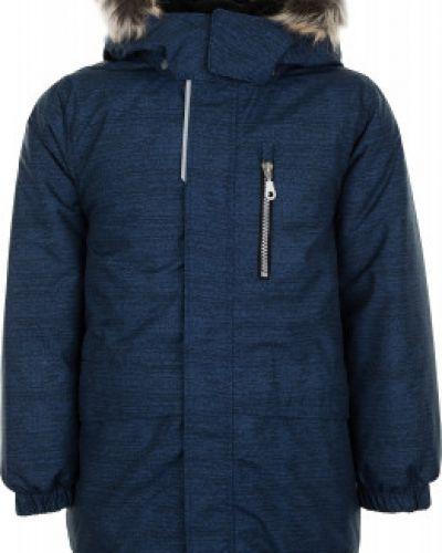 Утепленная синяя куртка на молнии Lassie