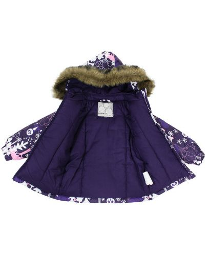 Зимняя куртка с капюшоном утепленная Huppa