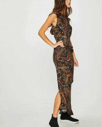Платье макси прямое с вырезом Answear
