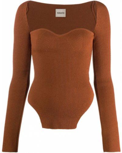 Brązowy pulower Khaite