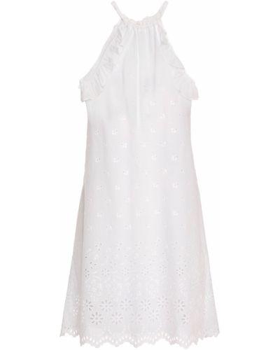 Sukienka mini bawełniana - biała I.d. Sarrieri