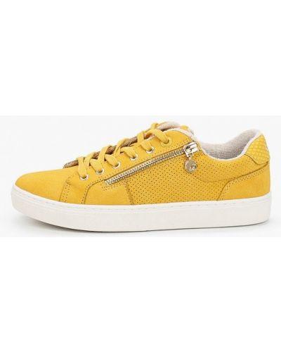 Желтые низкие кеды S.oliver