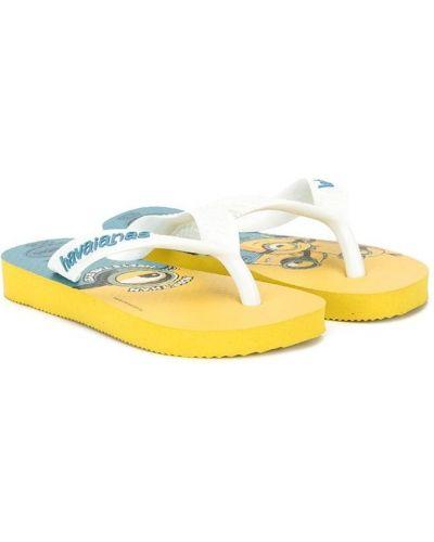 Желтые шлепанцы на плоской подошве без застежки Havaianas