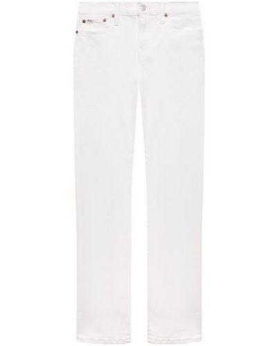 Хлопковые белые джинсы Ralph Lauren