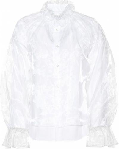 Блузка из органзы белая Noir Kei Ninomiya