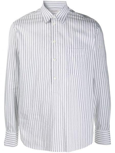 Biała koszula bawełniana w paski Rochas