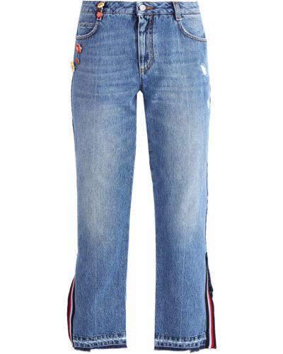 Расклешенные джинсы винтажные с эффектом потертости Ermanno Scervino