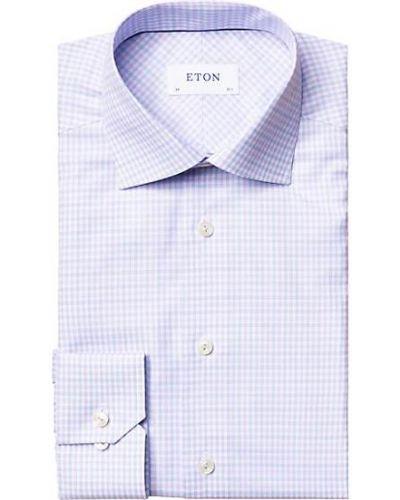 Хлопковая рубашка с воротником с длинными рукавами Eton