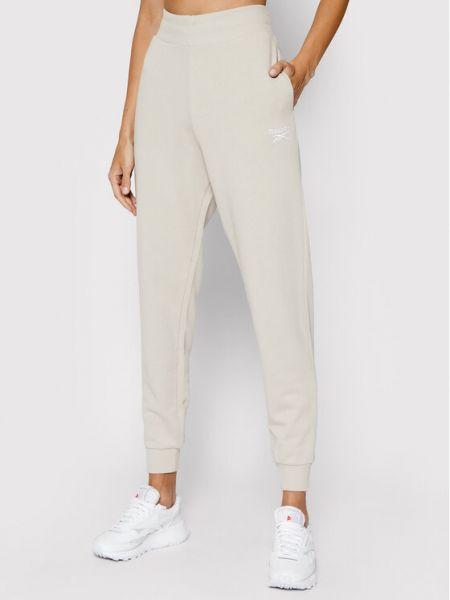 Spodnie dresowe - beżowe Reebok Classic