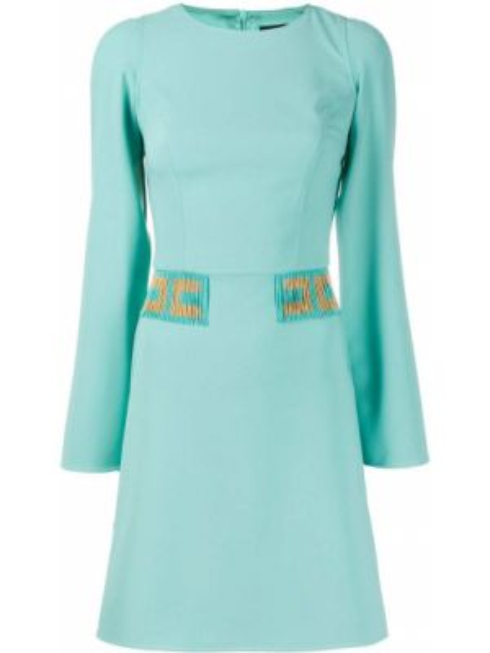 Платье макси с бисером синее Elisabetta Franchi