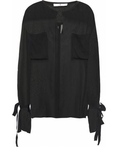 Шелковая блузка - черная 7 For All Mankind
