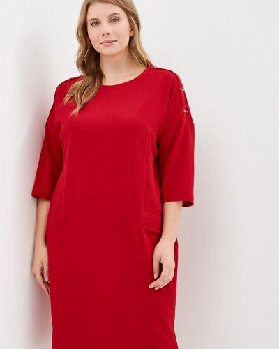 Красное платье прямое Indiano Natural